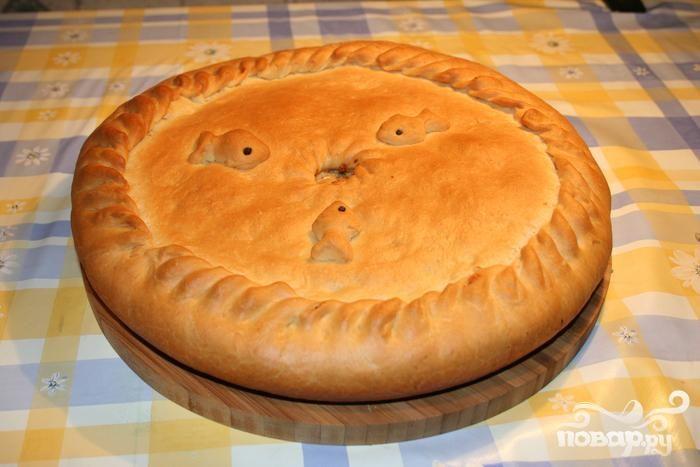 Рецепт Постный рыбный пирог