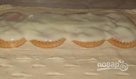 Слоеное бездрожжевое тесто с вишней - фото шаг 3