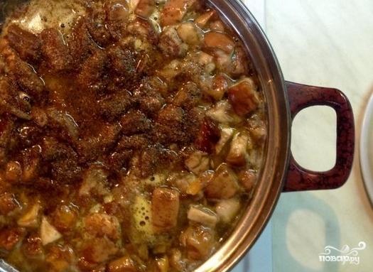 Грибной суп из замороженных белых грибов - фото шаг 3