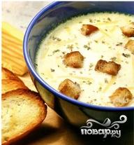 Сырный суп с копченостями - фото шаг 12