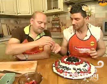 """Торт """"Божественный"""" из бисквитного печенья с фруктами - фото шаг 1"""
