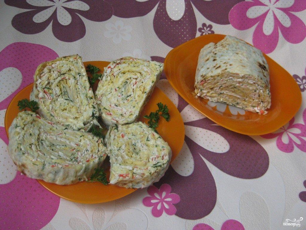 Рецепт рулета из лаваша с курицей и грибами