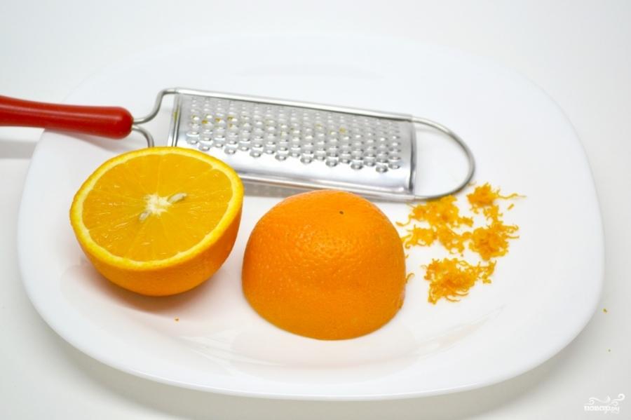Бисквит с апельсиновым кремом - фото шаг 3
