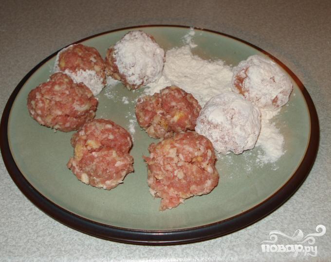 Мясные шарики в кисло-сладком соусе - фото шаг 2