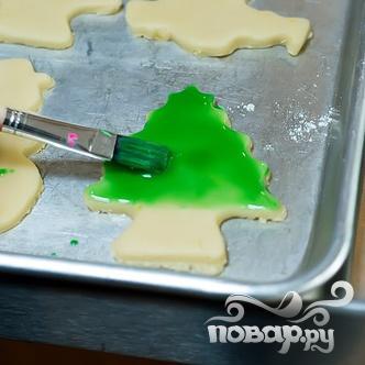 Новогоднее печенье с глазурью - фото шаг 5