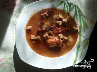 Суп с копчеными ребрышками - фото шаг 6
