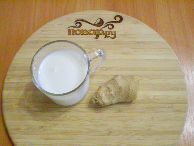 Рецепт Кефир с имбирем