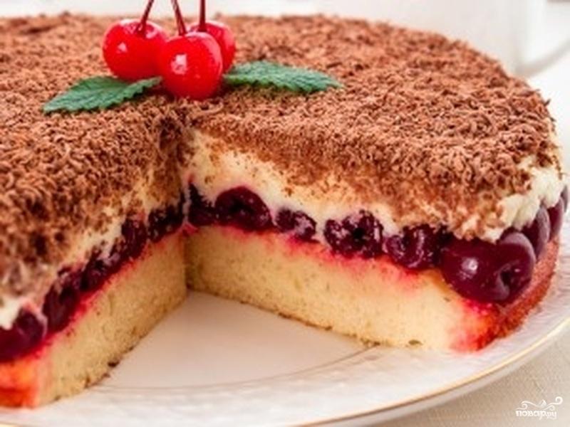 Вишневый торт с маскарпоне - фото шаг 5