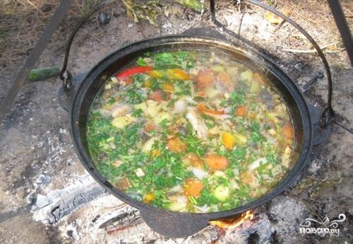 рецепты приготовления супа в казане