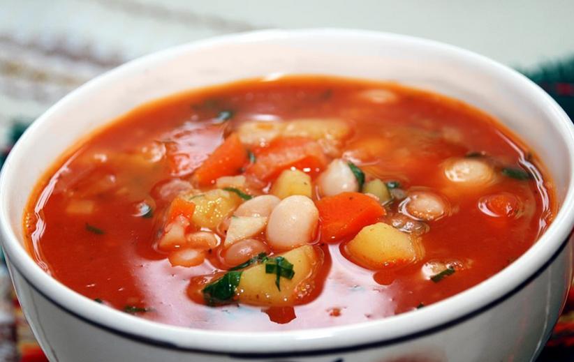 Фасолевый суп с томатной пастой - фото шаг 7