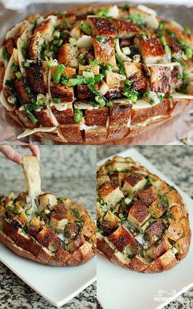 Рецепт Разваливающийся хлеб с сыром и грибами