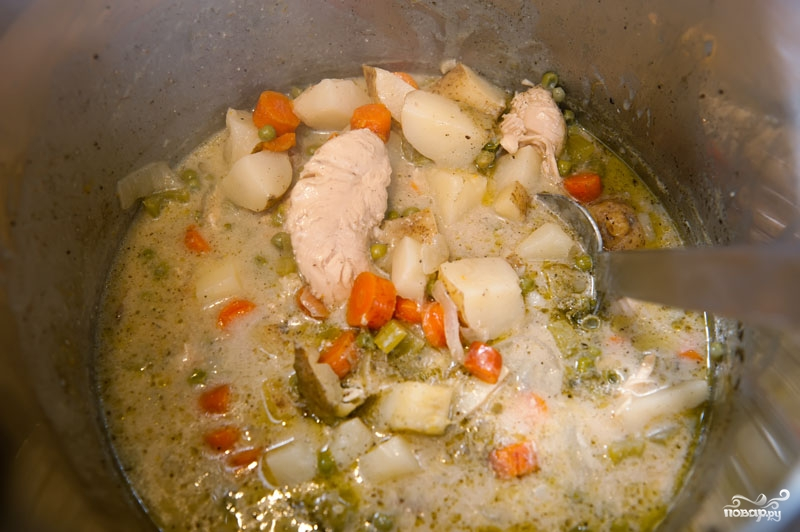 Овощной суп с курицей - фото шаг 5