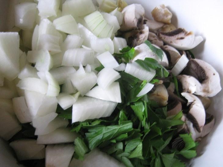 Рецепт Блинчики из кабачков с грибами