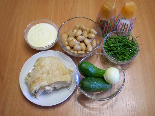 Рецепт Мясной салат с фасолью