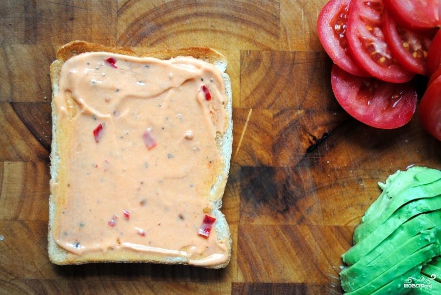 Клубный сэндвич с курицей - фото шаг 3