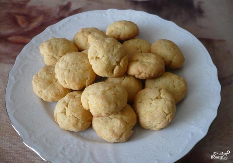 Постное кукурузное печенье
