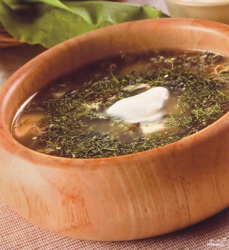 Рецепт Суп из щавеля и шпината