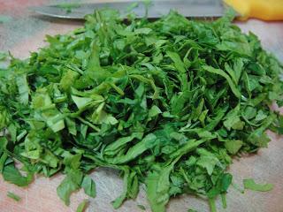 Спагетти с зеленью - фото шаг 2