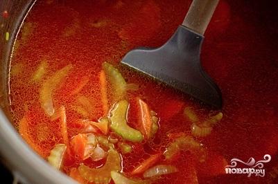 Томатный суп-пюре с моцареллой - фото шаг 3