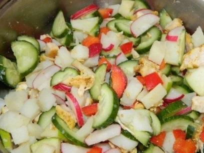 Салат с курицей и кунжутом - фото шаг 9