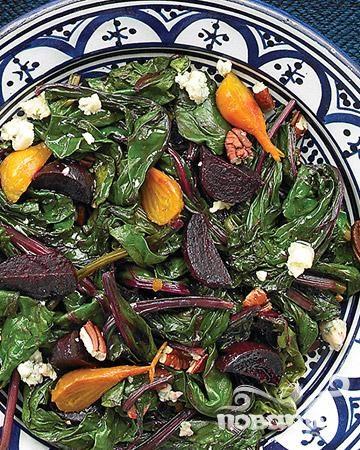 Рецепт Салат с печеной свеклой и голубым сыром
