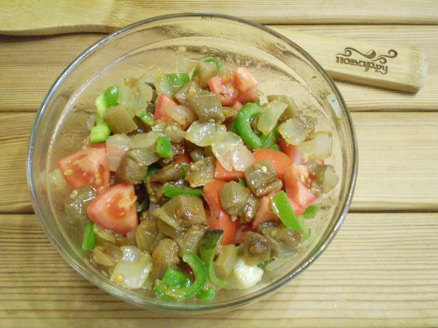 Салат из баклажанов и болгарского перца - фото шаг 5