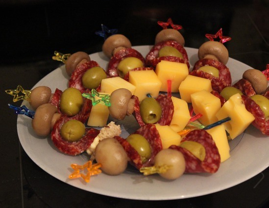 Канапе с оливками и сыром рецепт 42