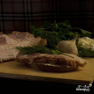 Бутерброд с грудинкой - фото шаг 4