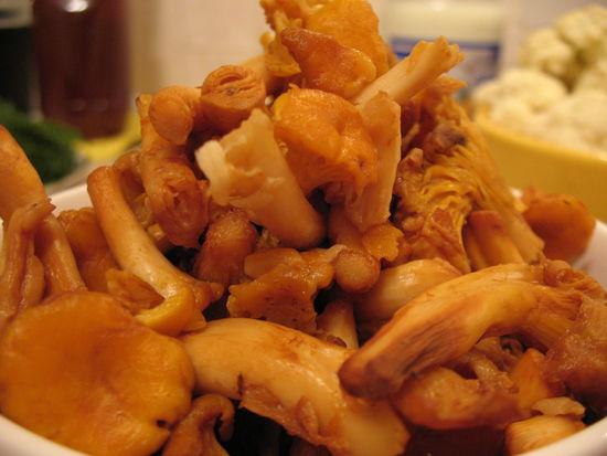 Цветная капуста с грибами и сыром - фото шаг 2