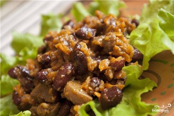 Рецепт Красная фасоль с грибами