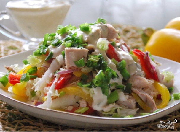 3. Немного охладим и салат можно подавать!