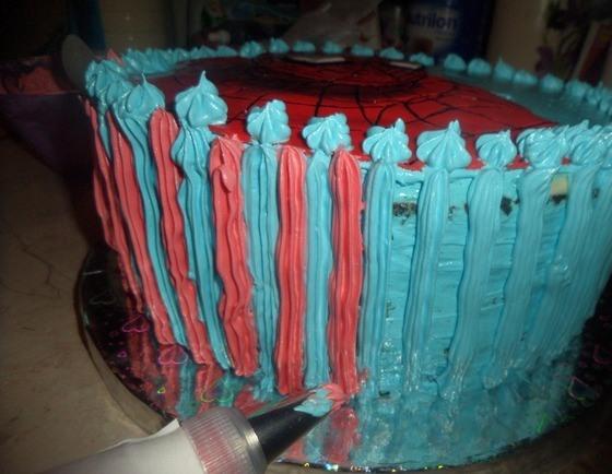 """Торт бисквитный """"Человек-паук"""" - фото шаг 10"""