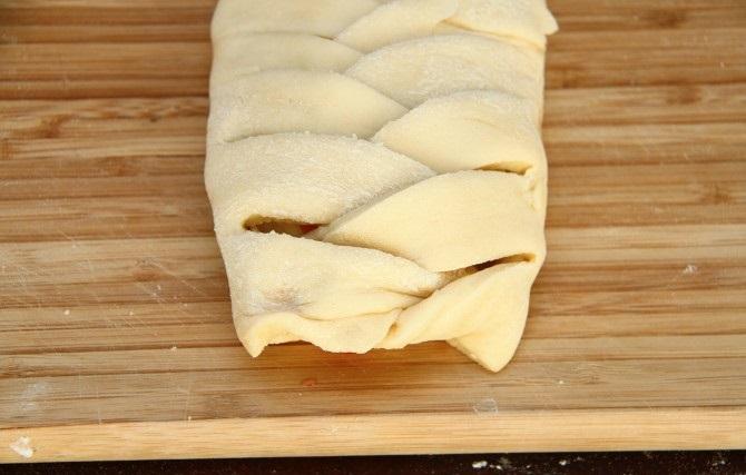 Пирог с вишней из дрожжевого теста - фото шаг 9
