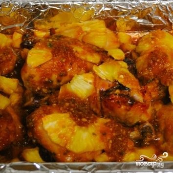 Курица, запеченная с ананасами - фото шаг 8