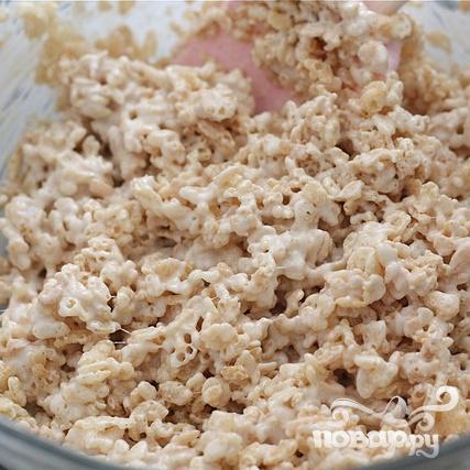 Пирожные с воздушным рисом и зефиром - фото шаг 4