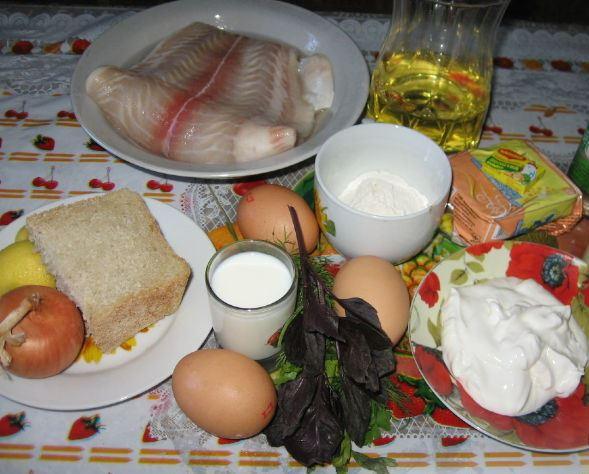 Рецепт Рыбные фрикадельки в сметанном соусе