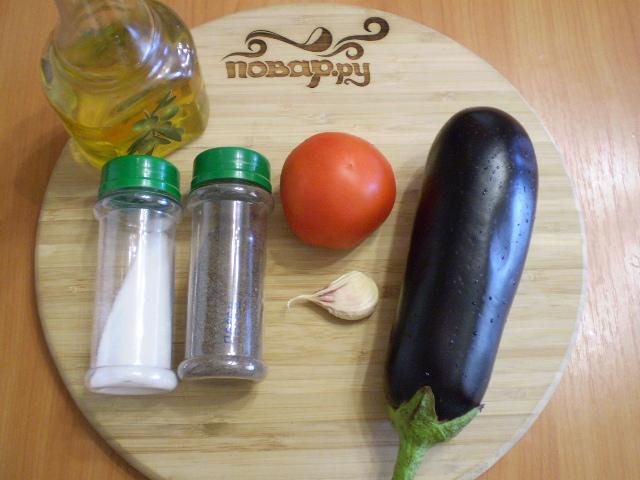 Рецепт Жареные баклажаны с помидорами и чесноком