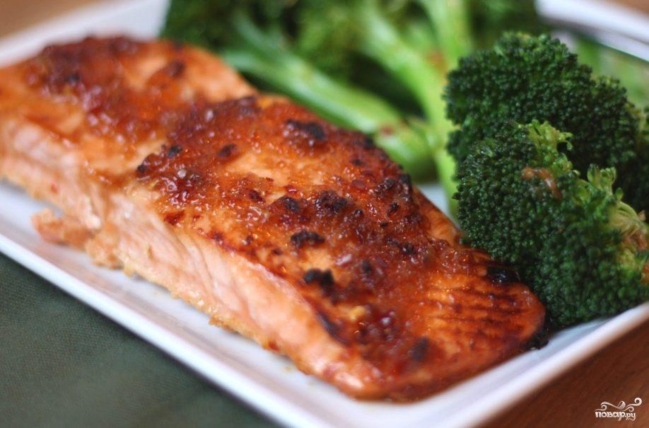Рецепт Семга запеченная с брокколи