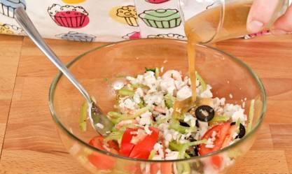 Салат с курицей и креветками - фото шаг 12