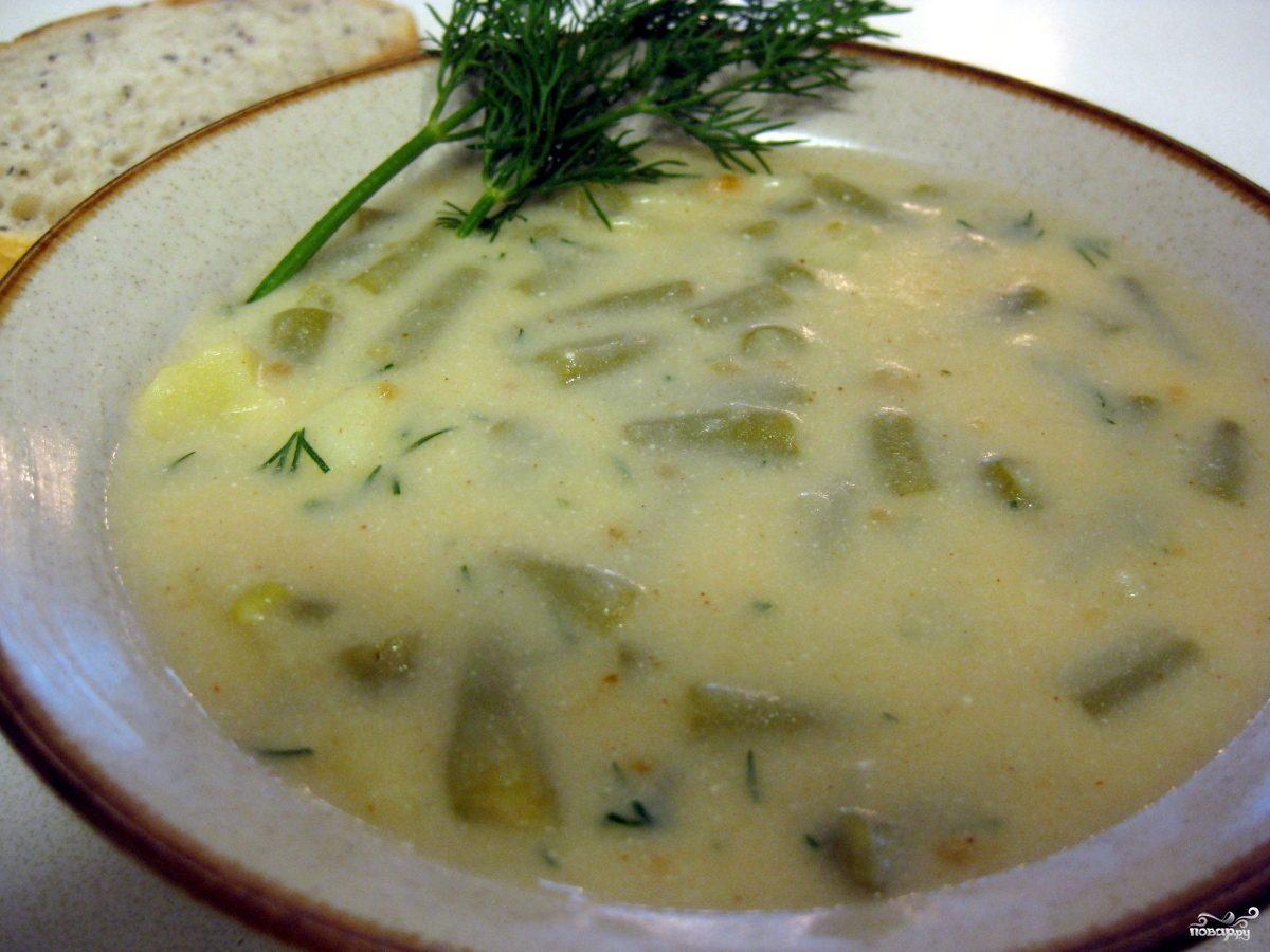 Суп из стручков фасоли