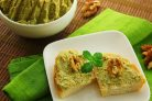 Закуска из грецких орехов с зеленью