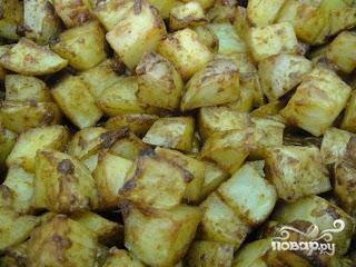 Картофель в духовке с пармезаном