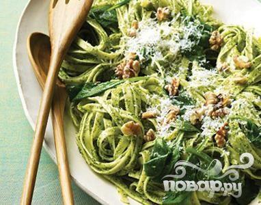 Рецепт Паста с соусом Песто и орехами