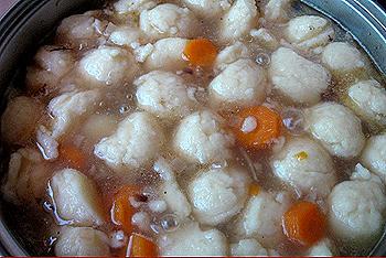 суп с клецками без мяса рецепт