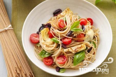 Рецепт Паста с артишоками и помидорами
