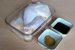 Курица, запеченная в соевом соусе - фото шаг 1