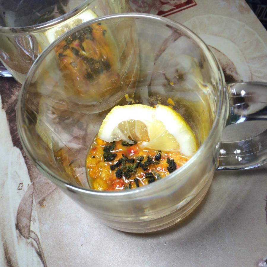 Чай с облепихой и имбирем - фото шаг 3