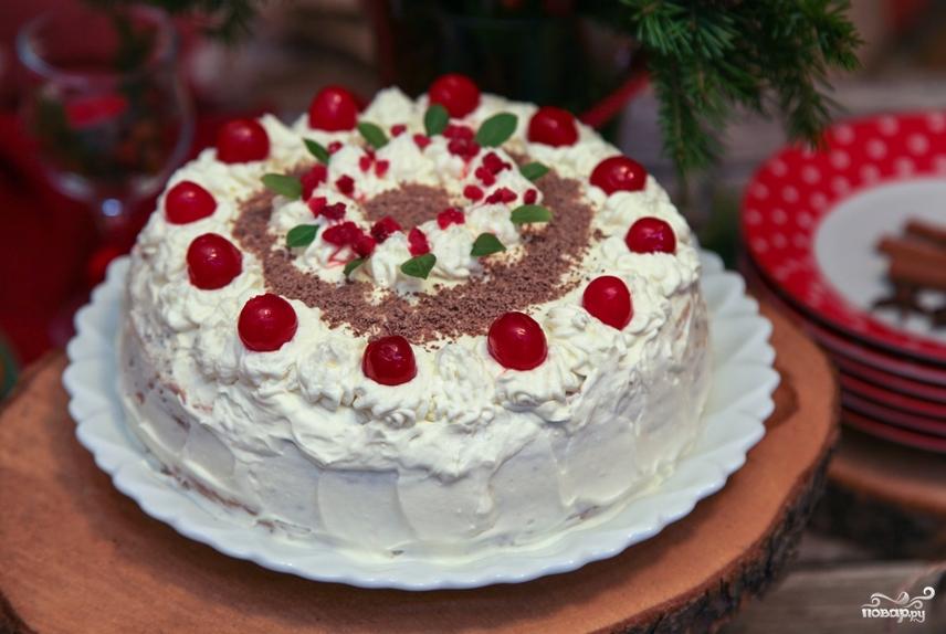 Блинный торт со сливочным кремом - фото шаг 8