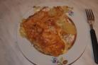 Индейка, запеченная с картофелем под сыром