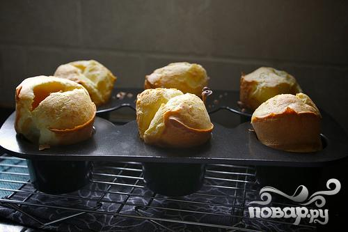 Апельсиновые поповеры (пустые булочки) - фото шаг 4